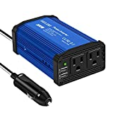 GELOO 300W Power Inverter DC 12V to 110V AC Converter with 4.8A Dual USB Ports Car Adapter