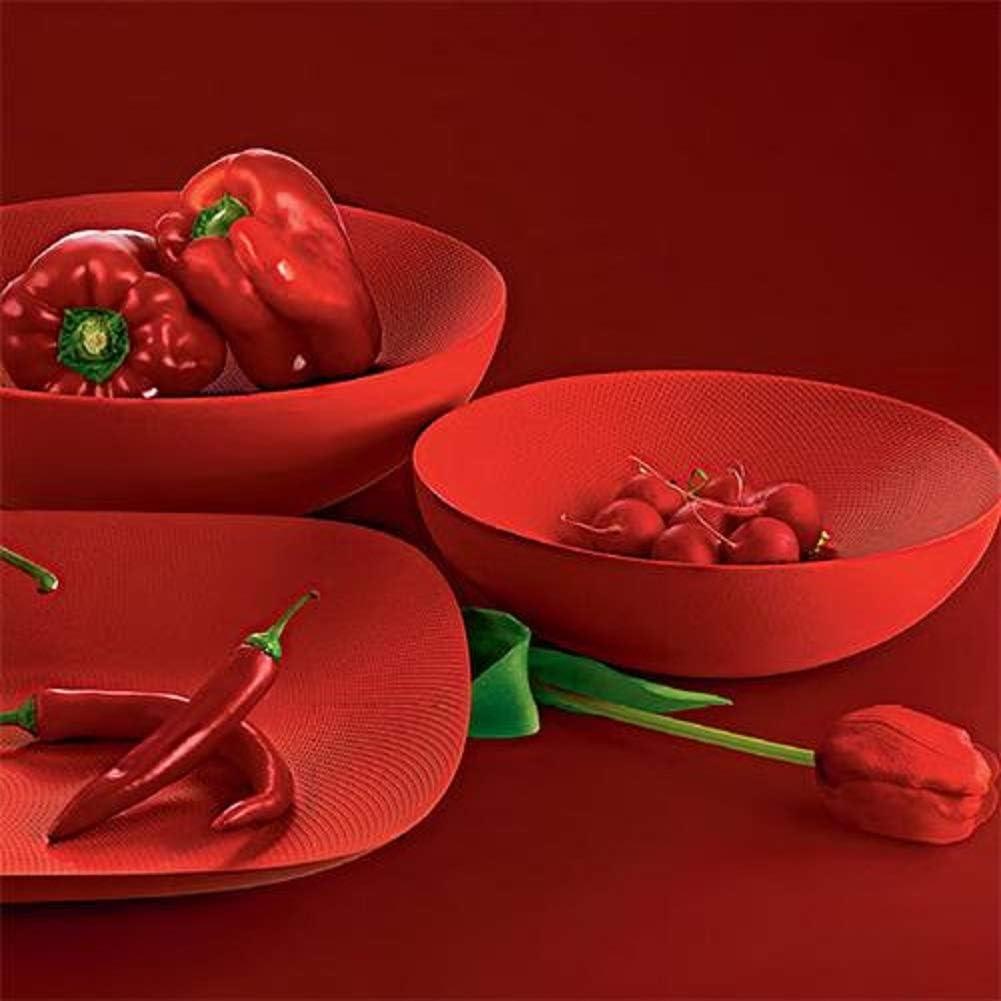 Acciaio Colorato con Resina Epossidica Rosso 5 x 46 x 35 Alessi Moir/é Vassoio Rettangolare