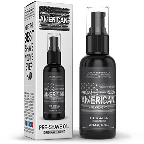 American Shaving Pre Shave Oil For Men (2oz) - Original Masculine Scent...