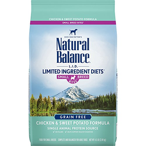 Natural Balance Small Breed Bites L.I.D. Limited Ingredient Diets Dry Dog Food, Grain Free, Chicken & Sweet Potato Formula, 4.5-Pound