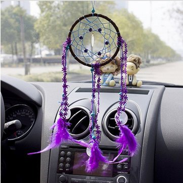 Dream Catcher Mascot Windbell Feather Automobiles Ornament Windbell^.