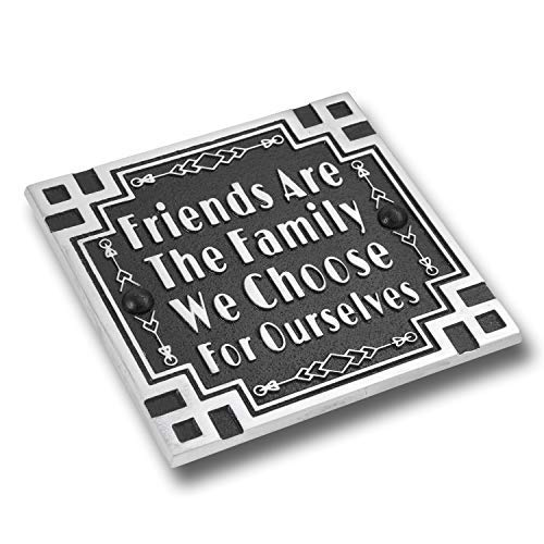 Friendship Wall Plaque - The Metal Foundry Art Deco Décor Wall Art Metal Plaque with Inspirational Quote 'Friendship'. Home Accessory Gift for Parents Or Friends for Wedding, Anniversary, Birthday Or Christmas