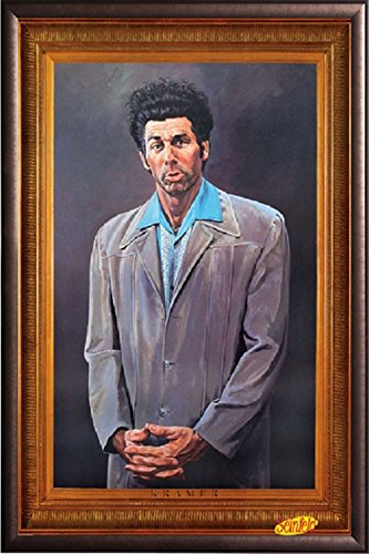 FRAMED Pyramid Seinfeld Kramer 24x36 Poster in Real Wood Pre