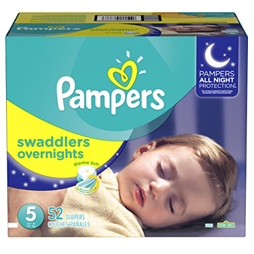 Large Product Image of Pampers Swaddlers Overnights Disposable Diapers Size 5, 52 Count, SUPER