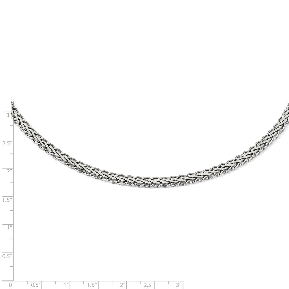 Leslies 925 Sterling Silver Flat D//C Spiga Necklace; 18 inch