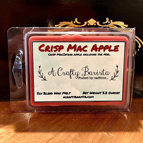 2.9-3.5 Oz Macintosh Apple with hints of Strawberry /& Watermelon Wax Melts