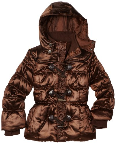 Velvet Chic Big Girls'  Toggle Hooded Coat