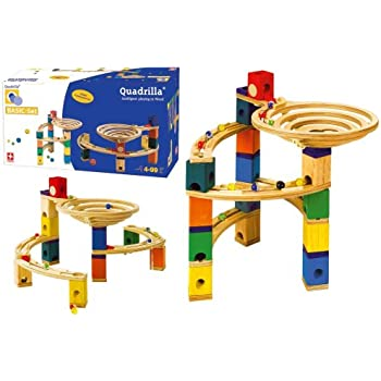 Hape Quadrilla Wooden Marble Run Construction Basic Set Add On