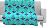 KESS InHouse Ivan Joh ''Turquoise Dance'' Teal Purple Fleece Throw Blanket, 40 by 30-Inch, 40'' X 30''''