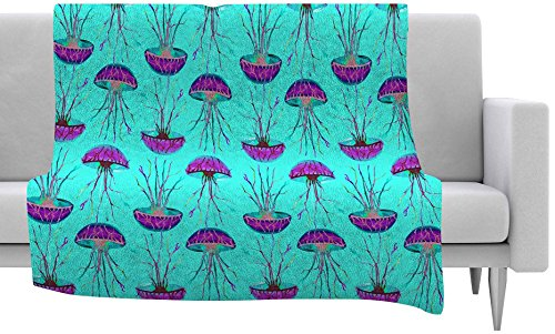 KESS InHouse Ivan Joh ''Turquoise Dance'' Teal Purple Fleece Throw Blanket, 40 by 30-Inch, 40'' X 30'''' by Kess InHouse
