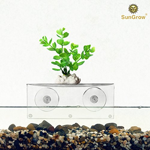 Aquarium Shelf --- Extra Level for Substrate and Live Plants - Crystal Clear Transparent Ledge - 100% Safe for All Fish - Holds up to 5 Pounds - Made of Strong Acrylic