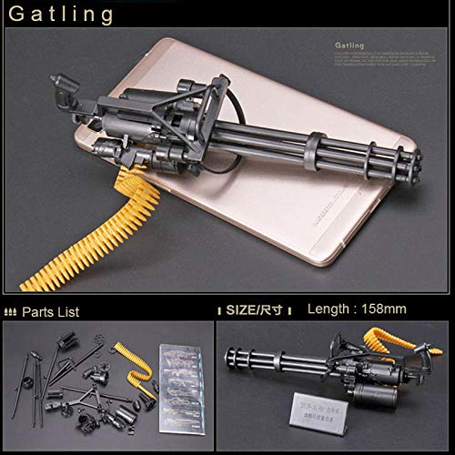 Poetray 1:6 1/6 Scale 12 Inch Action Figures M134 Gatling Minigun Terminator T800 Heavy Machine Guns + Bullet Belt Gift for Children