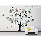 Luckkyy g ant photo de famille arbre mur home decor for Grand cadre photo mural