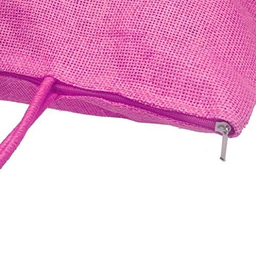 Bolso Para Rosado Claro Rojo Sintética Negro Mujer Cruzado Color Piel Amarillo Moontang OZBTqdnq