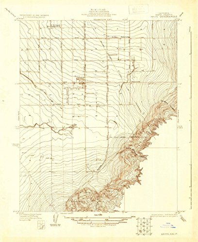 California Maps |1930 Arvin, CA USGS Historical Topographic Map |Fine Art Cartography Reproduction - Map Arvin Ca