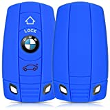 kwmobile Silicone cover for BMW 3-Button Car Key (only Keyless Go) Protection cover Etui Key Case Cover in blue