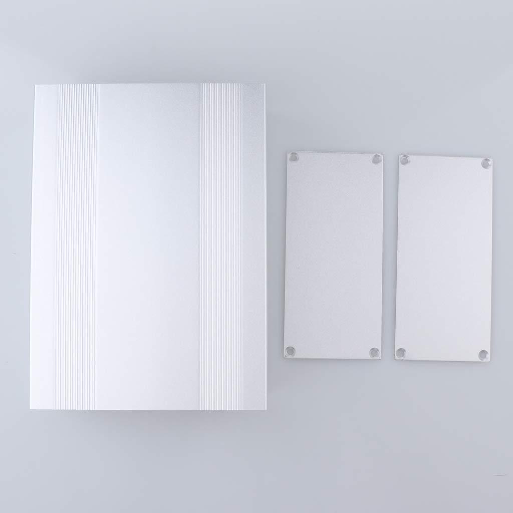 B Blesiya Bo/îtier de projet /électronique Bo/îtier Carte C/âblage En Aluminium DIY 200x145x68mm