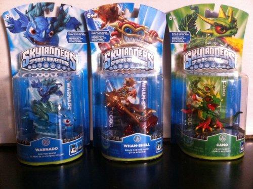 Skylanders Bundle Character Pack: Wham-shell, Camo, Warna...