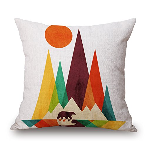 Loveloveu Throw Cushion Covers 18 X 18 Inches / 45 By 45 Cm(double Sides) Nice Choice For Indoor,office,lover,monther,boy Friend,office Geometric
