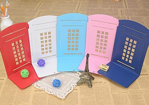 cancelleria rosa riviste ufficio Fermalibri triangolari in metallo per cabina telefonica per scuola porta libri casa DIIYer-Bu