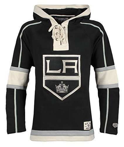 Old Time Hockey NHL Los Angeles Kings Men's Lacer Heavyweight Hoodie, Large, ()