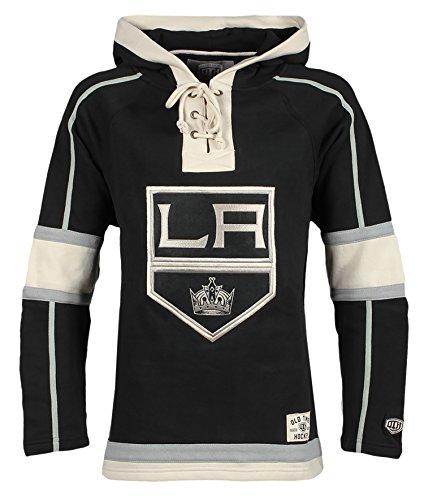 Old Time Hockey NHL Los Angeles Kings Men's Lacer Heavyweight Hoodie, 3X-Large, Black