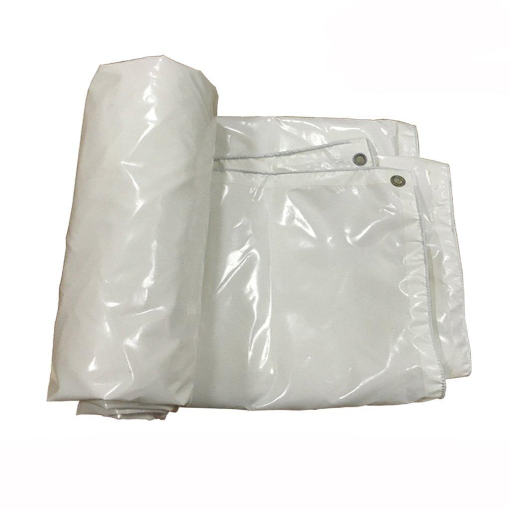 ターポリン防水日除けバイザーレインクロスキャノピークロスカーキャンバストラックターポリン (色 : 白, サイズ さいず : 5 * 6m) B07FLTFP8P 5*6m 白 白 5*6m