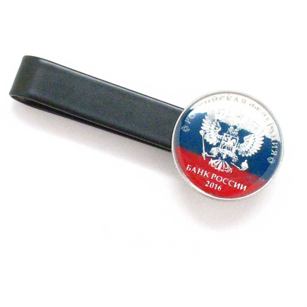Russia Tie Bar Clip Tiebar Tieclip Suit Europe Russian Eagle Gold Tone Moscow Kremlin Red Army
