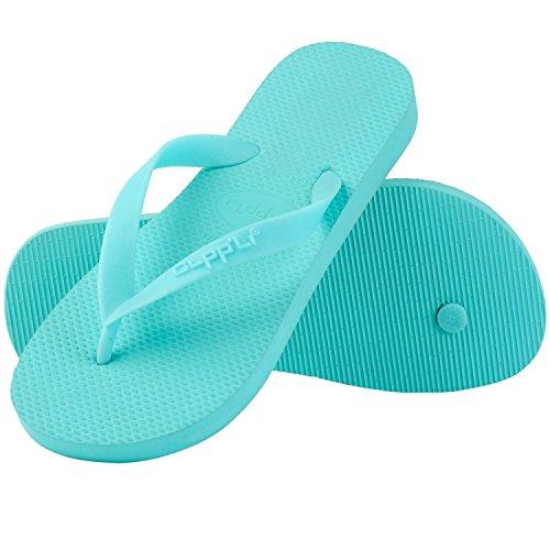CLPPLI Womens Flip Flops Beach Slippers Blue 5ubUDSHk