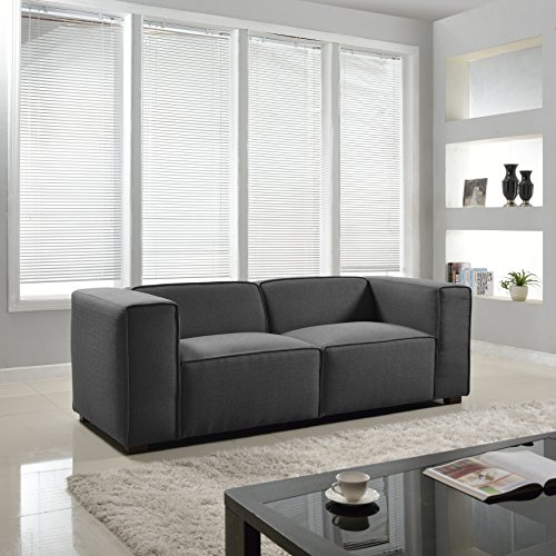 Exceptional Modern Contemporary Wide Track Arm Sofa   Linen