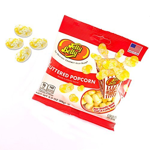 B66137 Jelly Beans Buttered Popcorn, 3.5 Oz. - Pack Of 3 ()