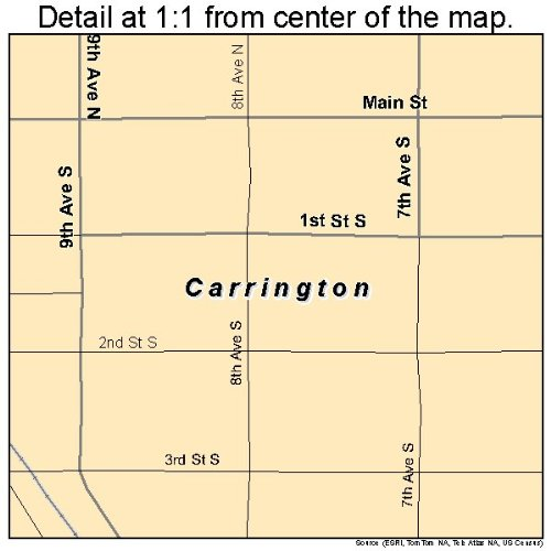 Amazon.com: Large Street & Road Map of Carrington, North ... on carrington nd map, foster county nd map, carrington north dakota weather, carrington nd weather, carrington north dakota hotels, fortuna nd map, mohall nd map, kensal nd map, cavalier nd map,