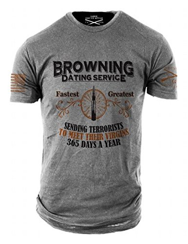 Grunt Style Browning Dating Service Men's T-Shirt (Medium) by Grunt Style