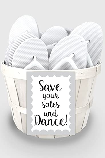 Amazon.com: Wedding Flip Flop Favors Set of 6 Style 6830000, White ...