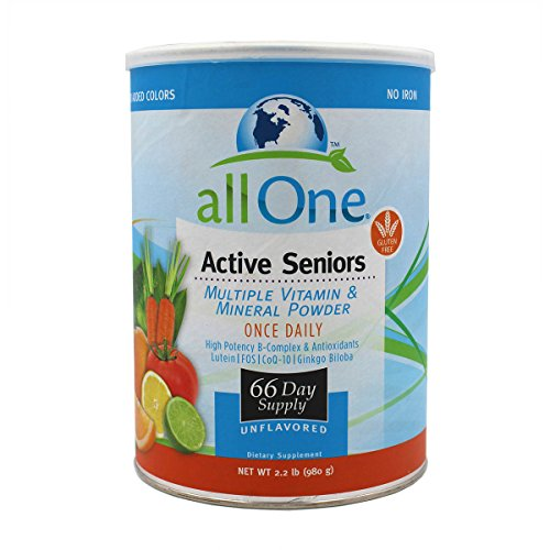 All One Powder Multiple Vitamins & Minerals for Active Seniors, 2.3-Pound Can