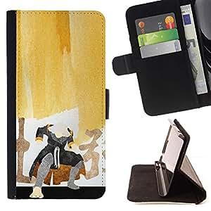 Momo Phone Case / Flip Funda de Cuero Case Cover - Pintura del samurai;;;;;;;; - Samsung Galaxy Core Prime