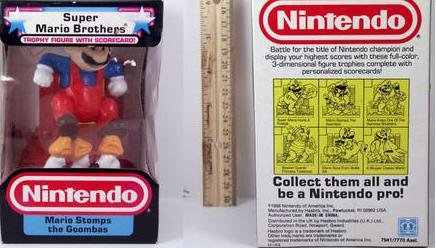 Nintendo Trophy Figure - Mario Stomps the Goombas (Toadstool From Mario)