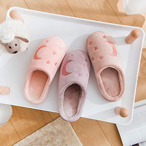 vin Couple Coton M Slippers Clair Rouge Accueil M Violet Chaussures De 38 Chaudes Size Automne Antidérapantes Monbedos Pantoufles Hiver 37 xSqg66