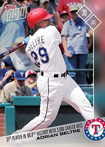 2017 Topps Now Baseball #419 Adrian Beltre 3,000 Career Hits Commemorative Baseball Card - Only 1,691 made!