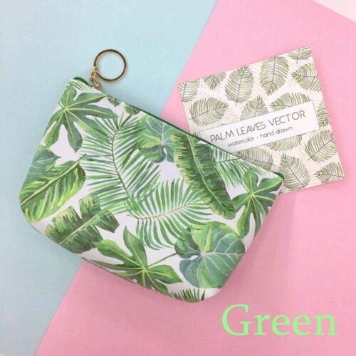 New Toiletry Holders Cosmetic Makeup Pouch Flamingo Print Bags Organizer Wallets (Color - Green)]()
