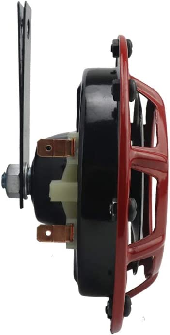 YHAAVALE Car Truck Horn 12V//24V 115dB High Tone and Low Tone Metal Twin Horn Kit with Red Protective Grill