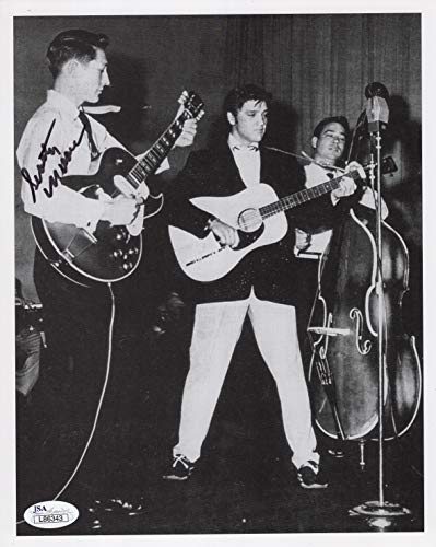 - SCOTTY MOORE AUTOGRAPHED 8x10 PHOTO+JSA WITH ELVIS PRESLEY