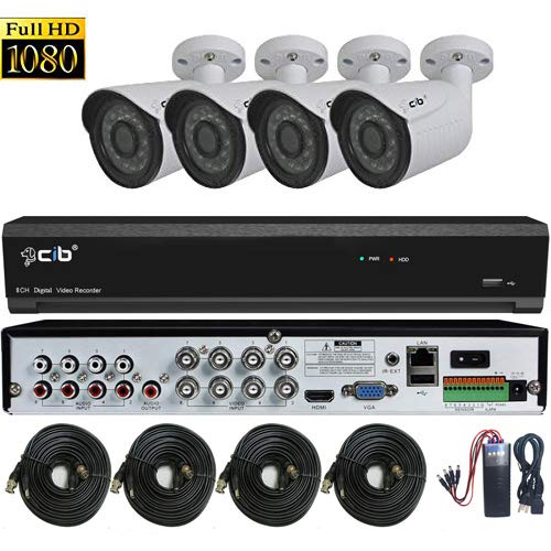 CIB True Full HD-TVI 8CH 1920TVL 1080P Video,Plus 4CH 4MegaPixel IP Input, DVR Security System with 2TB HDD,HDMI 4K/1080P Output,4x2.1Megapixel Vandal Bullet Color Cameras -T80P8K2T56W-TAI-4KIT
