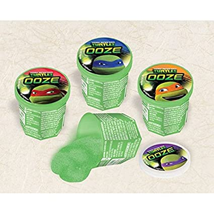 Amazon.com: Amscan – Awesome TMNT Ooze Masilla Fiesta de ...