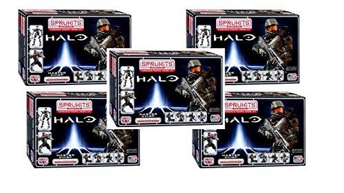 Bundle 5 box SpruKits Halo The Master Chief Action Figure Model Kit, Level 3