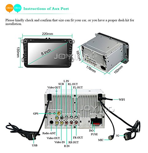Connect Diagram Instruction For Joying Vw Android Car Stereo