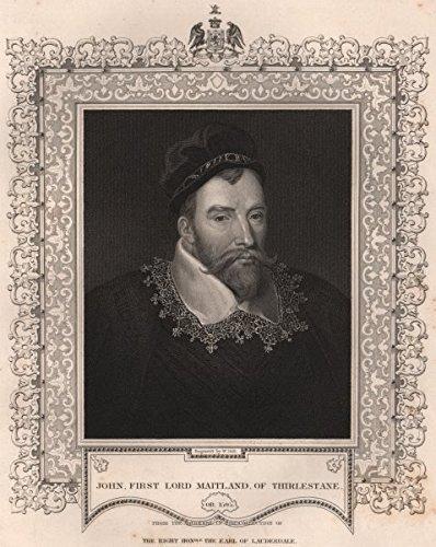 - BRITISH HISTORY. John, first Lord Maitland, of Thirlestane. TALLIS - 1853 - old print - antique print - vintage print - British History art prints