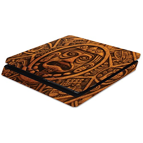 Carved Thin (MightySkins Skin For Sony PS4 Slim Console - Carved Aztec | Protective, Durable, and Unique Vinyl Decal wrap cover | Easy To Apply, Remove, and Change Styles | Made in the USA)