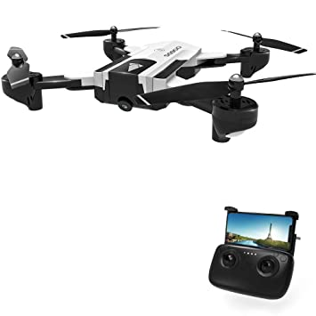 Rabing RC Drone, SG900 Optical Flowing Foldable FPV WiFi RC Quadcopter with  Double Hd 720P Camera 4CH 6-Axis Gyro Image Allow Gesture Photo/Video