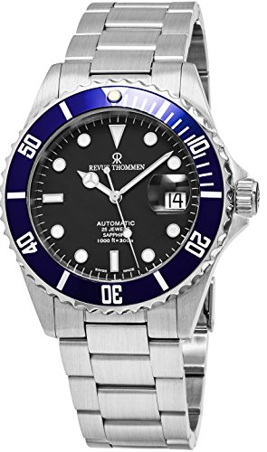 Revue Thommen Diver 42 MM Mens Black Dial Stainless Steel Automatic Date Swiss Watch 17571.2135